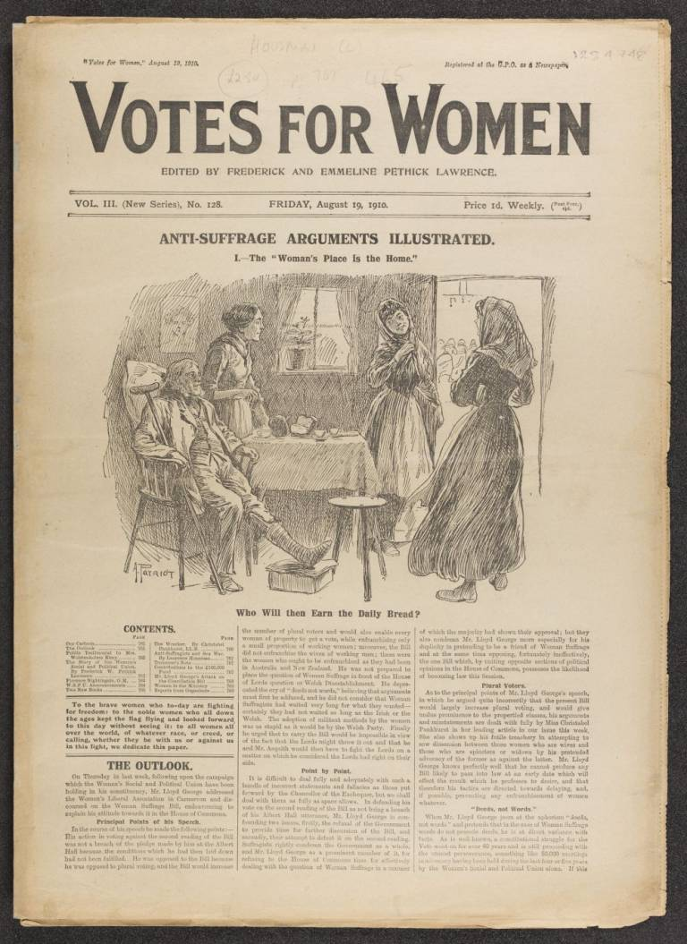 Votes for women Vol 3 (New Series), No. 128