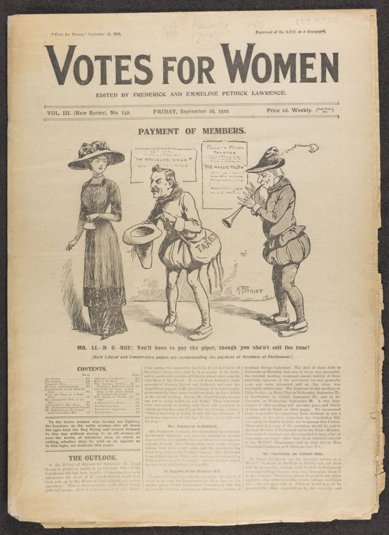 Votes for women Vol 3 (New Series), No. 132