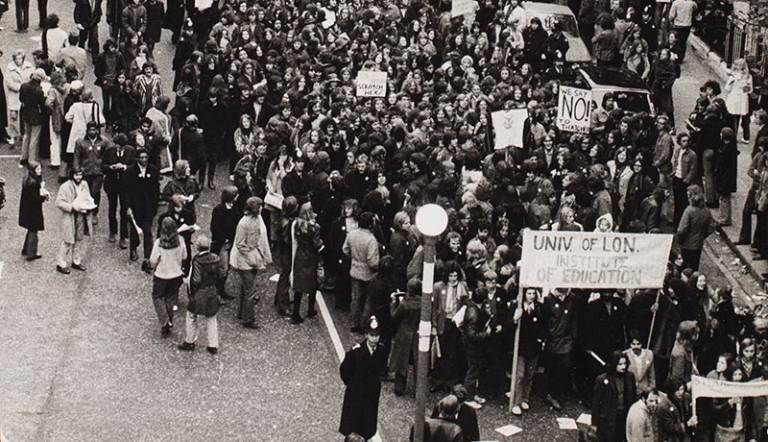 Photo of a student protest