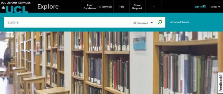 Screenshot, Explore home page