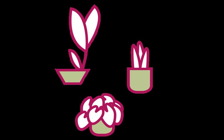 Graphic representing plants