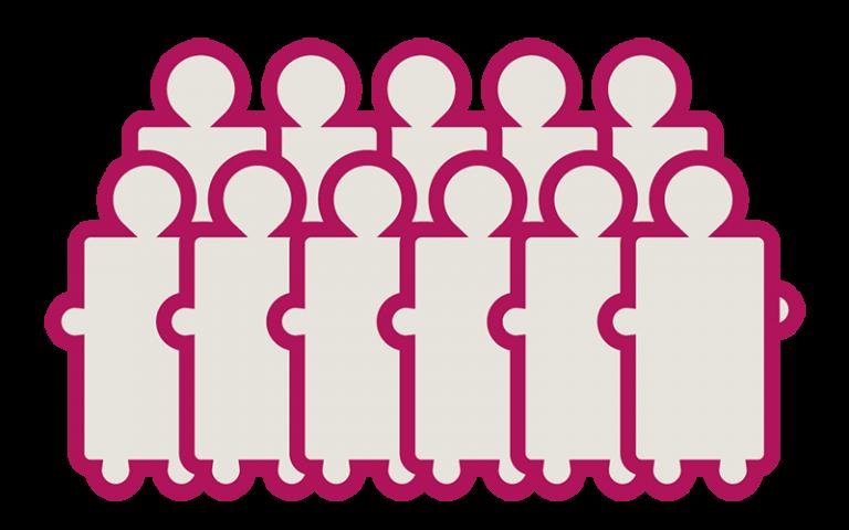 Graphic representing visitors