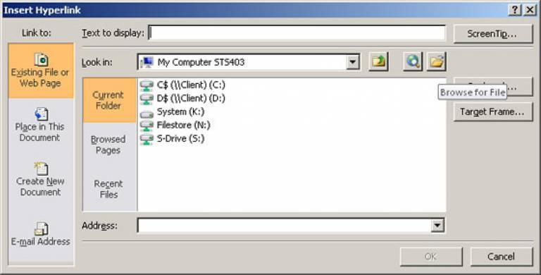 File browse screenshot