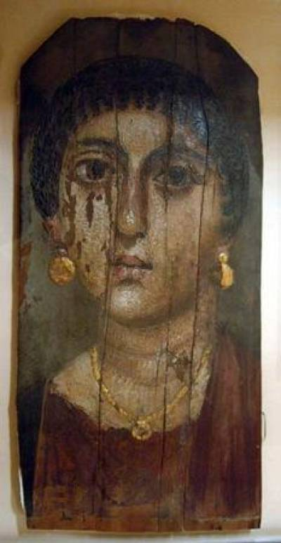 Roman Mummy image from Petrie Museum