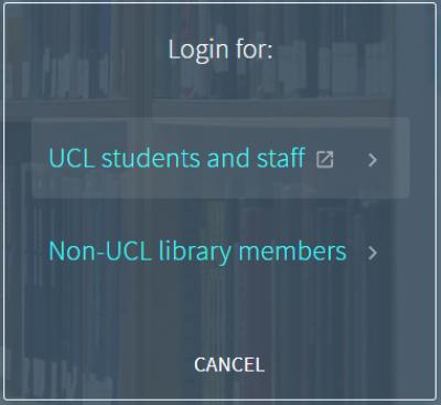 Explore login-in box