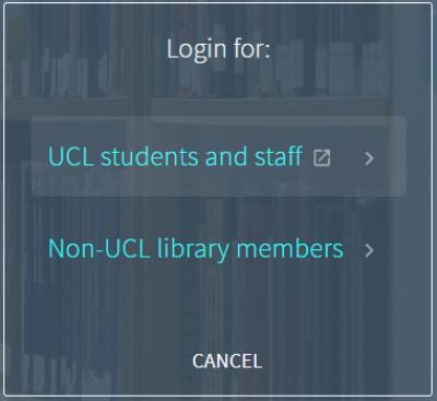 Explore login-in box