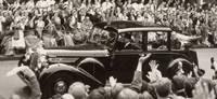 Queen Elizabeth Coronation Tour outside UCH, June 1953