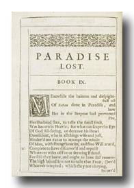 Milton's Paradise Lost. 1st edition. with 1st state of title-page