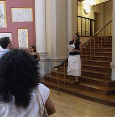Staff gathered in UCL Main Library