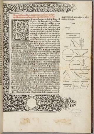 Euclid, Elementa (INCUNABULA QUARTO 5q)