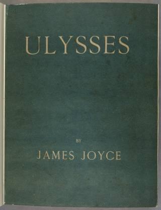 Unillustrated cover of Ulysses by James Joyce, shelfmark: JOYCE XB 70