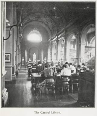 Readers in the Donaldson Library