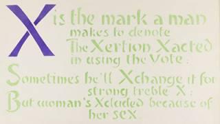 An Anti-Suffrage Alphabet