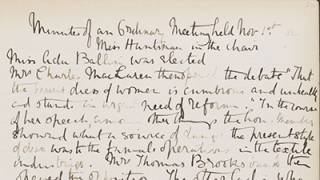 Minute book of the University College Women's Debating Society