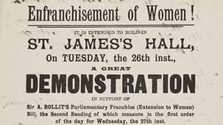 Printed notice for a demonstration at St James's Hall