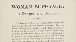 Woman suffrage: its dangers and delusions