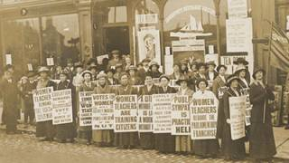 Suffrage demonstration in Lowestoft, Suffolk