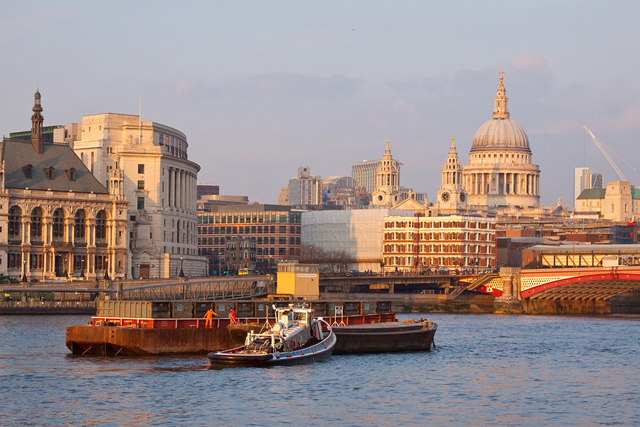 View of St Paul's Cathedral from River Thames