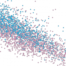 Graphic representation of single cell transcript variability