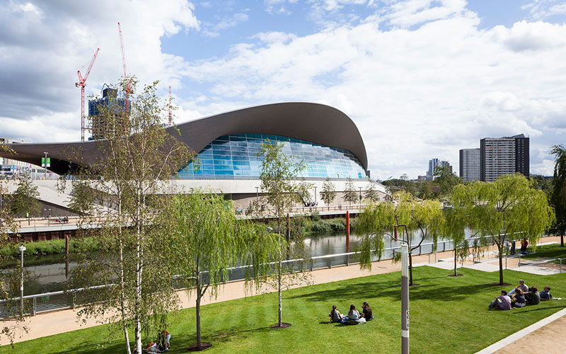 Aquatics centre in the Olympic Park, East London
