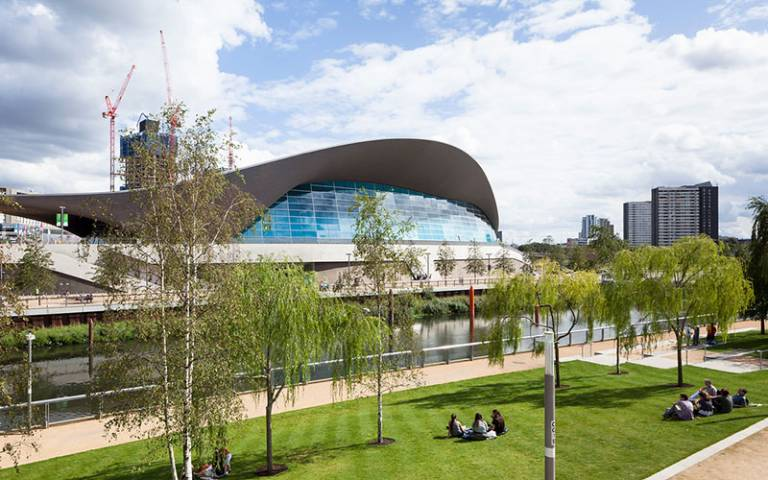 Aquatics centre in the Olympic Park, East London
