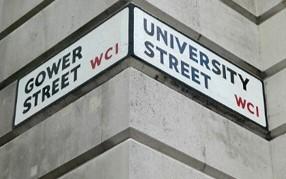 University street sign