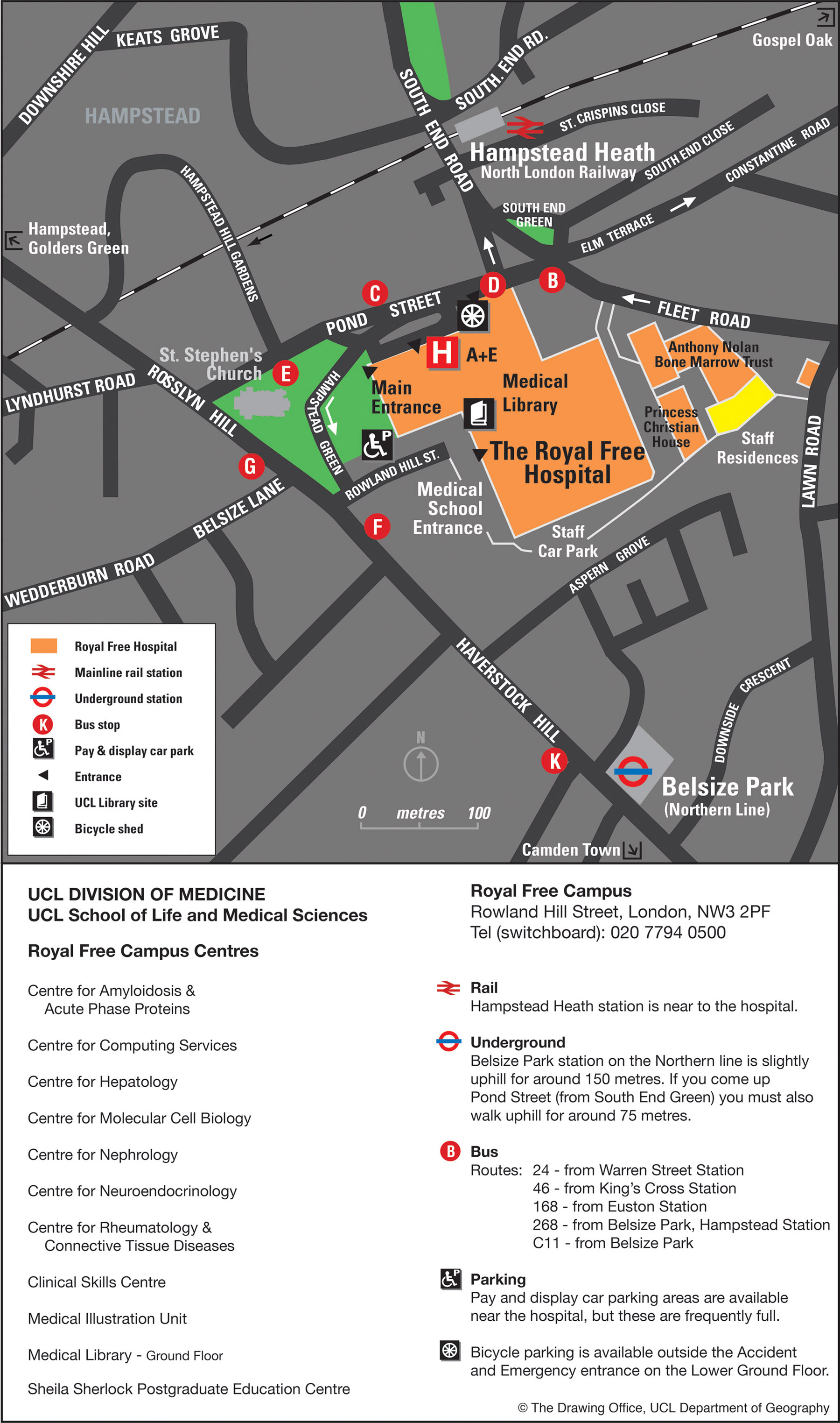Campus map downloads | UCL Maps