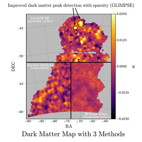 Dark Matter Map with Three Methods