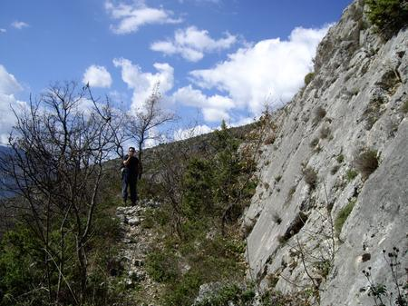 Fault scarp in the Apennines, Italy. Photo: Joanna Faure Walker (UCL IRDR)