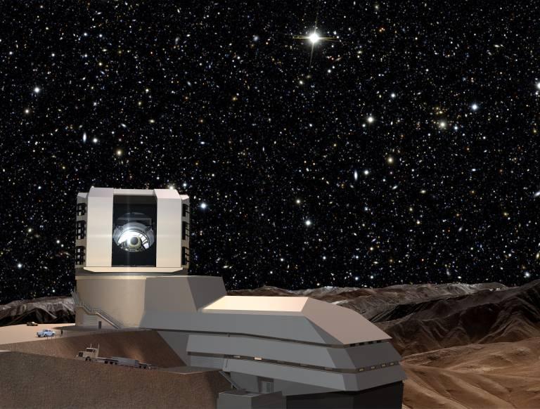 LSST Exterior at night - Todd Mason, Mason Productions Inc. / LSST Corporation