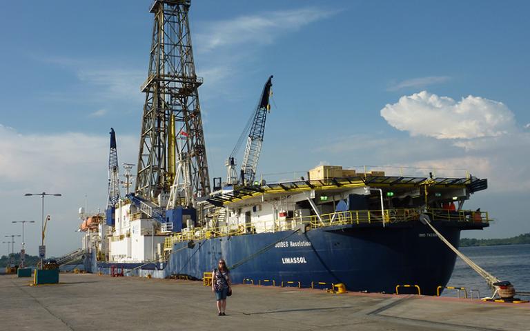 Image of large tanker - credit Dr Anna Joy Drury
