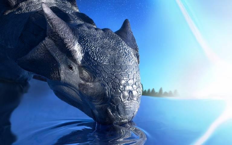 Artist's interpretation of an Ankylosaurus