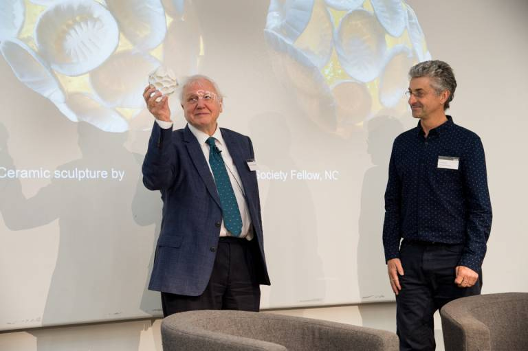 David Attenborough and Paul Bown