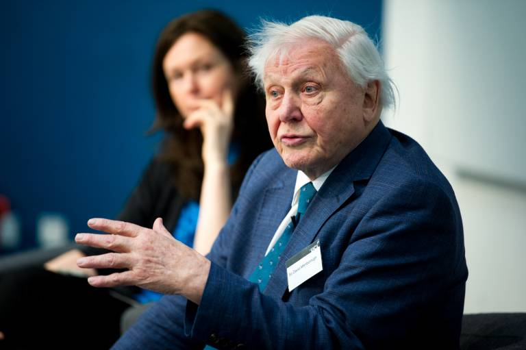 Sir David Attenborough honourary guest at the grand reopening of the Kathleen Lonsdale Building