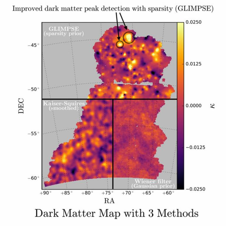 Dark Matter Map with Three Methods