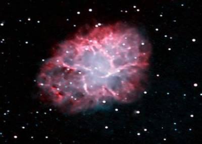 Crab Nebula seen by ULO