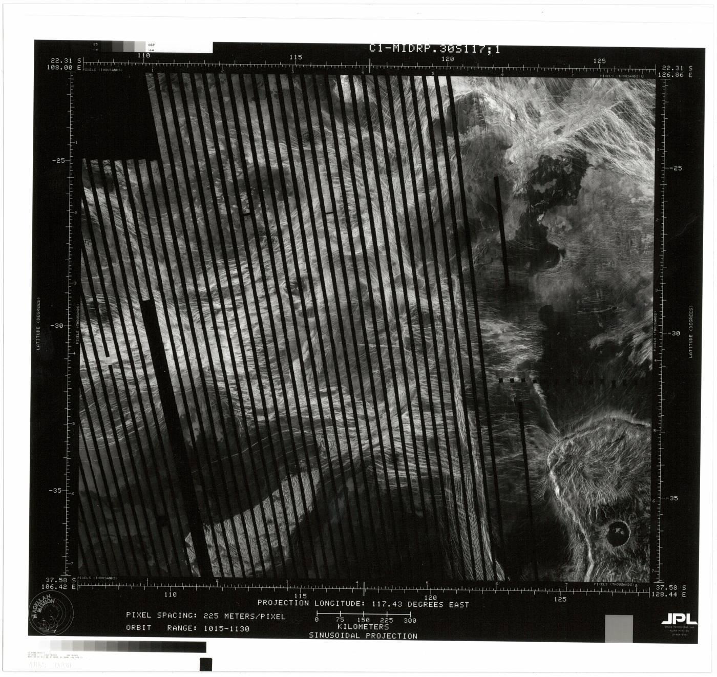 Magellan synthetic aperture radar map…