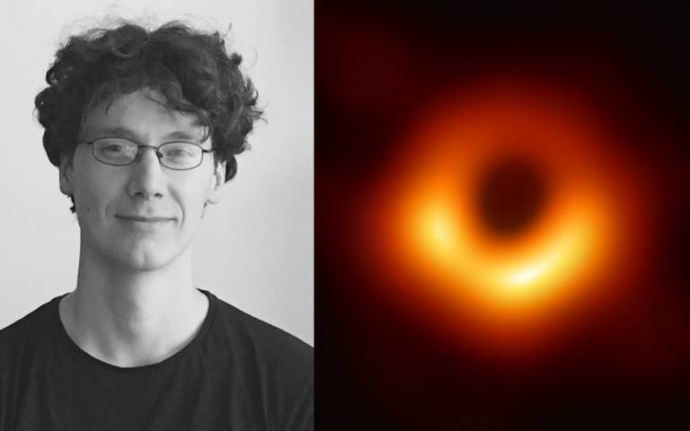 Dr Ziri Younsi, and the image created by the Event Horizon Telescope team