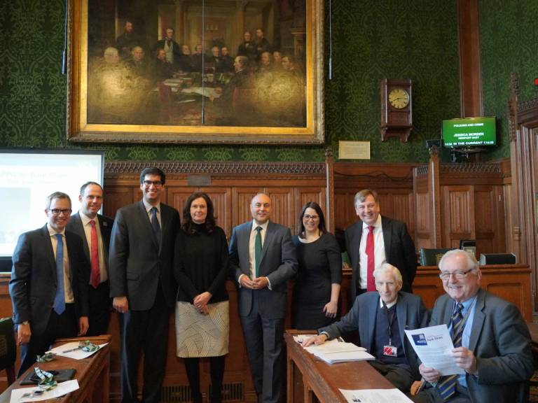 Lucie Green (4th from left) with the Dark Skies APPG