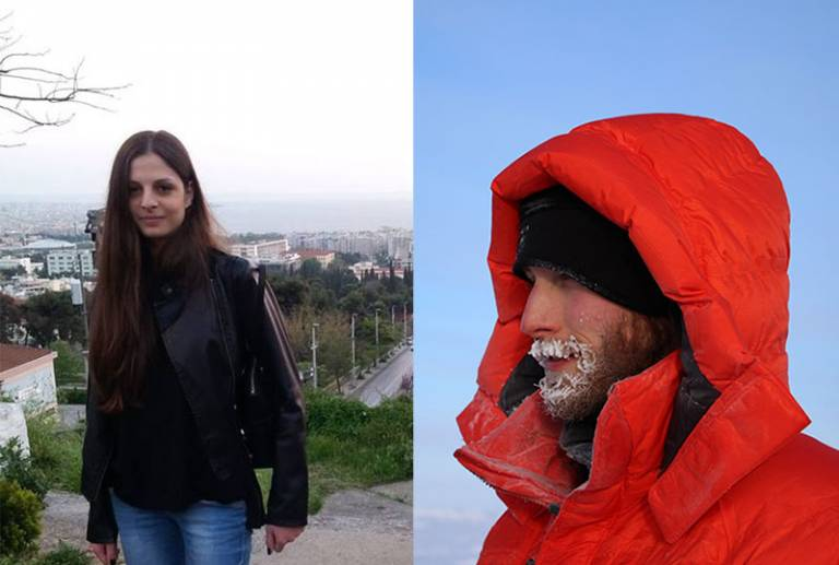 Ekaterini Katsouri (L) and Thomas Armitage (R)