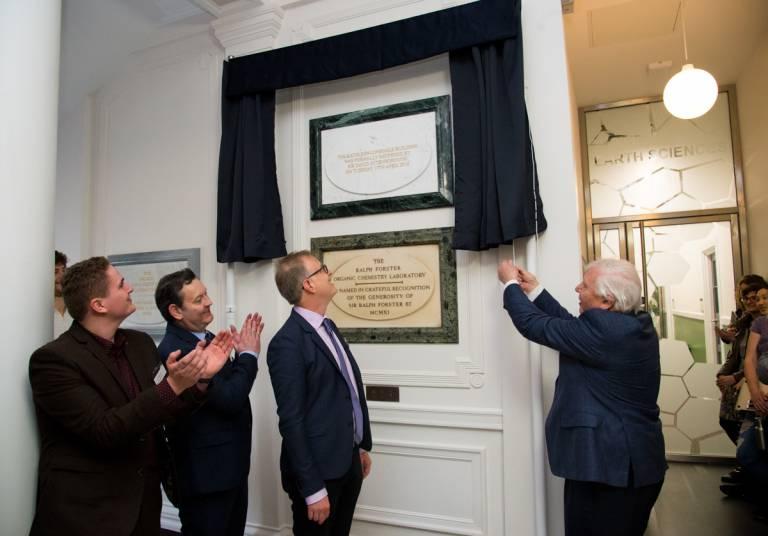 David Attenborough unveils plaque