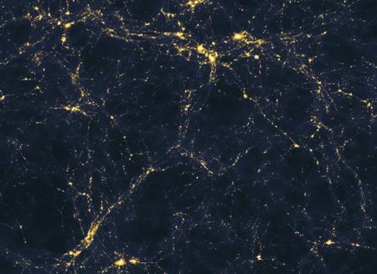 Large-scale structure of light in the universe