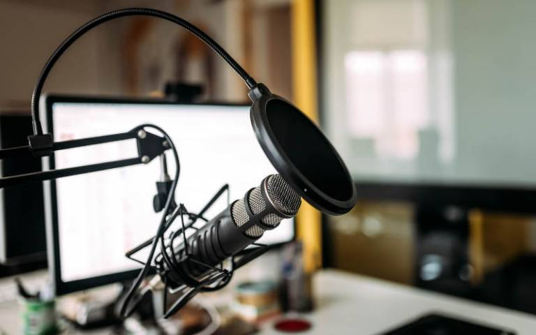 Image of a podcast recording
