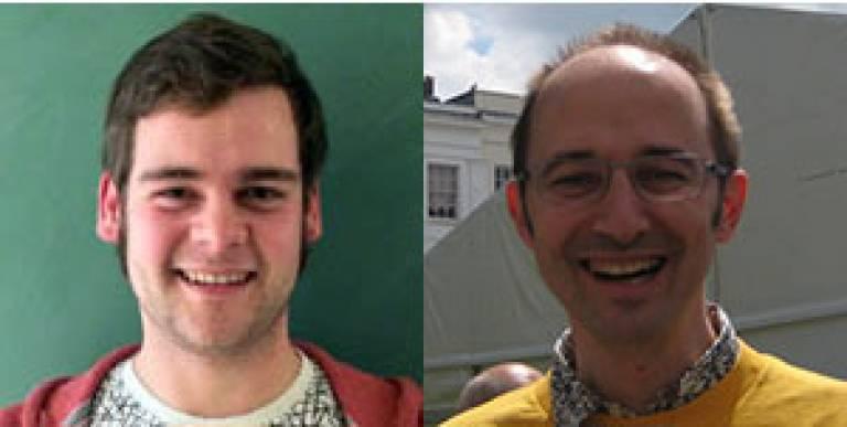 Matthew Scroggs (L), Andrea Sella (R)