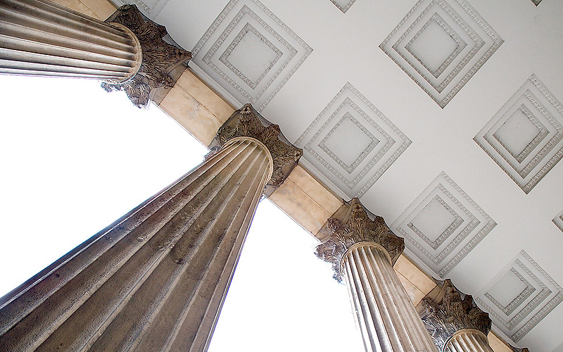 UCL Portico ceiling and Columns, © UCL Media Services - University College London