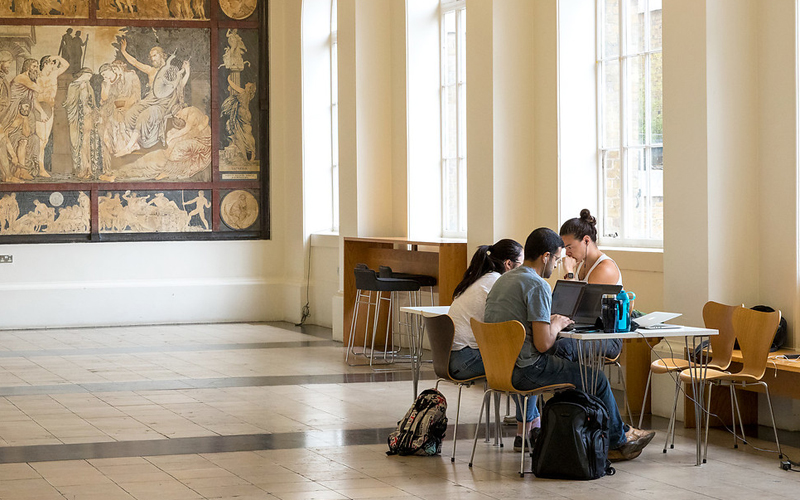 Students in Cloisters, Copyright - UCL Digital Media, ISD-LTMS