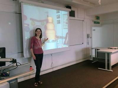 Dr Helen Wilson's chocolate fountain demonstration (2017)