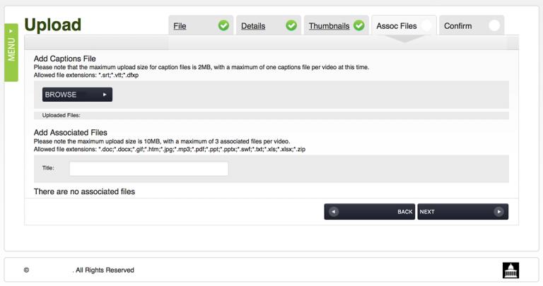 Upload Associated Files