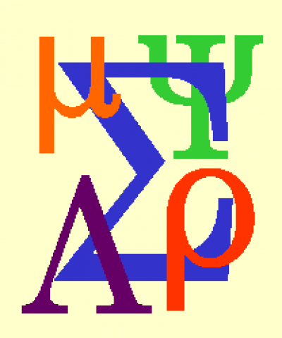 Statistics Logo with Greek Letters