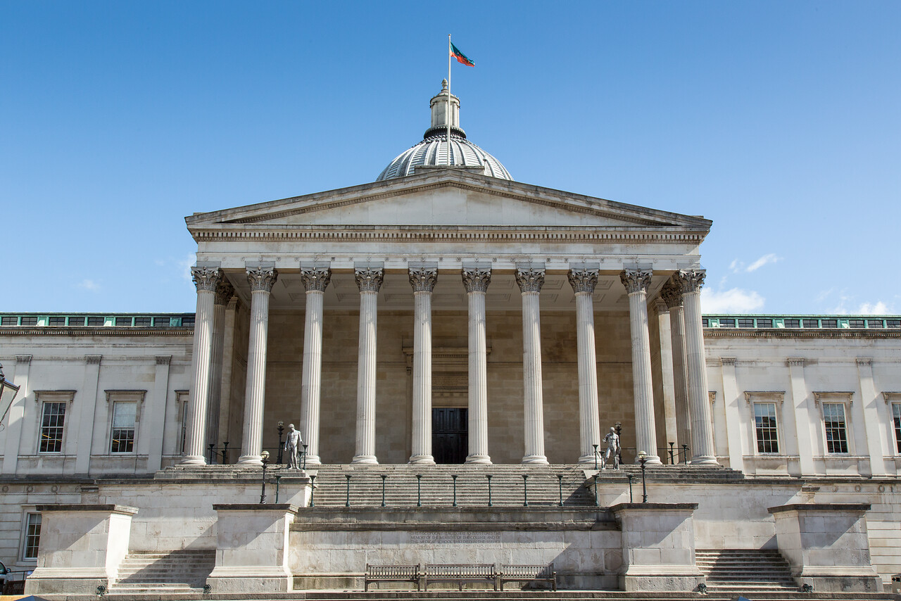 View of the Portico on UCL main campus
